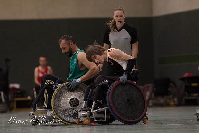 Rugby-Rollstuhl für David Kühhas